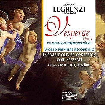 Legrenzi : Vesperae, Op. 1 - In Laudem Sanctissimi Sacramenti