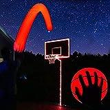 GlowCity Light Up Basketball Hoop Kit with LED Basketball - Red, Size 7 Basketball (Official Size)
