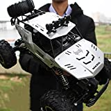 Pinjeer Four-Wheel Drive Remote Control Car High-Speed Climbing Racing 4-Battery Silver-m
