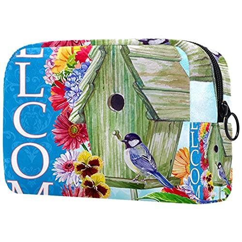Geschenke für Männer Frauen Kosmetiktasche Kulturbeutel Kleine Kosmetiktasche - willkommenes Vogelhaus