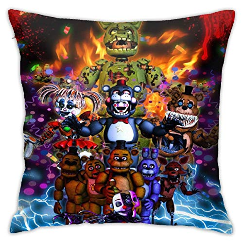 Five-Nights -at-Fred-dy's Throw Pillow Cover Decorative Pillow Case Square Cushion Pillowcase Home Decor 18x18 Inch