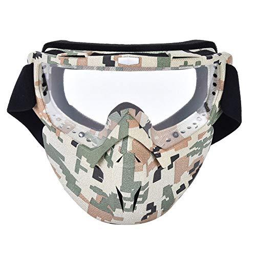 Gafas De Casco De Motocicleta Antiniebla A Prueba De Viento para Exteriores, Máscara Facial, Gafas De Carreras, Lentes Transparentes