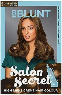 BBLUNT Salon Secret 100 g High Shine Creme Hair Colour with 8 ml Shine Tonic (Light Golden Brown, 5.32)