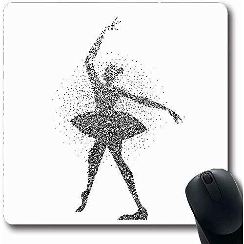 Mousepads stof actie meisje dansen klassieke ballet gemaakt sport recreatie abstract actieve ballerina danser olong vorm 18x22Cm anti-slip gaming muis pad