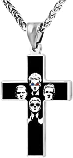 Wine Jianxian I Like To Draw Cross Pendant Jewelry Zinc Alloy Prayer Necklace For Men Women With Necklace,24 Inch