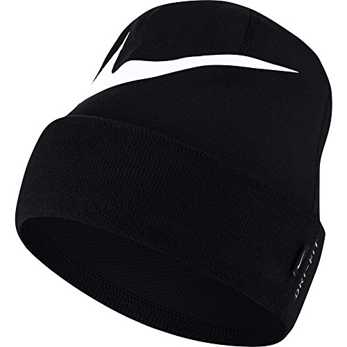 Nike Swoosh Cuffed Beanie, Black/White, One Size