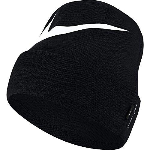 Nike Swoosh - Berretto Unisex, Unisex - Adulto, Berretto, 876501-011, Nero/Bianco, Taglia Unica
