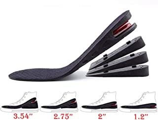 Height Increase Insole, 4-Layer Orthotic Heel Shoe Lift kit with Air Cushion Elevator Shoe Insole Lifts Kits Inserts for Men & Women Taller Insoles 1.2