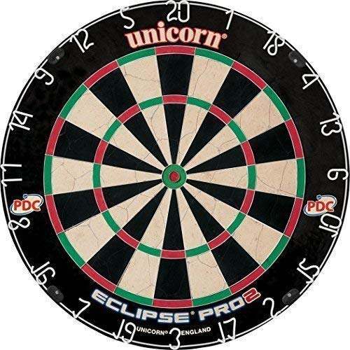 Only Sports Gear Unicorn Eclipse Pro 2 PDC Championship Dartscheibe mit Borsten
