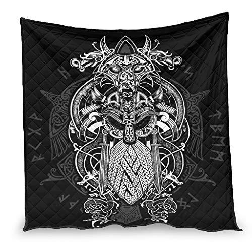 OwlOwlfan Viking Odin - Colcha para primavera, verano, otoño y temporada blanca (180 x 200 cm)