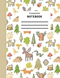 Composition Book: Camping Themed Composition Notebook 7.5 x 9.75 Wide Ruled 100 Pages