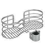 Metaltex 404818039 Viva Duschstangen Ablage, ohne zu Bohren, Silber