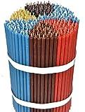 Candele di cera d'api: giallo, nero, rosso, marrone, verde, blu, 300 pezzi L 18,5 cm, ø 6,1 mm, durata 60 min; naturale, senza gocciolamento, senza fumo. Chiesa sottile, qualità n.80