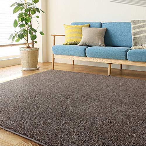 Lfixhssf Weicher Plüschteppich Kinderteppich Zottelteppich für Wohnzimmer Schlafzimmer dekorative Teppiche Lfixhssf, Coffee
