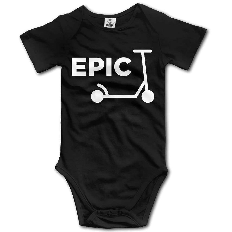 金属傾向ペーススクーターガール新生児ベイビーボーイズ&ガールズ半袖ベビークライミング服0-24ヶ月ブラックサイズ2T