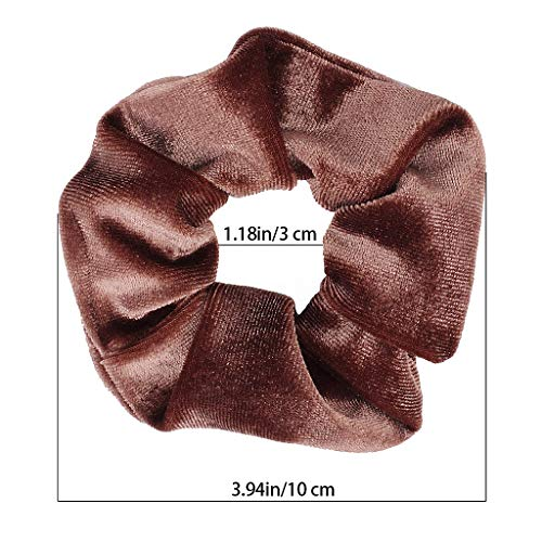 YUFETY 8 Pcs Hair Scrunchies Velvet Elastic Hair Bands Colorful Ponytail Holder Bands Hair Accessories Hair Ties For Women Girls