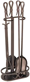 "Pilgrim Home and Hearth Pilgrim Home And Hearth 18047 Iron Gate Tool Set, 18047, Burnished Bronze, 28"" H, 18 Lb"