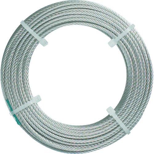 TRUSCO(トラスコ) ステンレスワイヤロープ ナイロン被覆 Φ1.5(2.0)mm×50 CWC-15S50