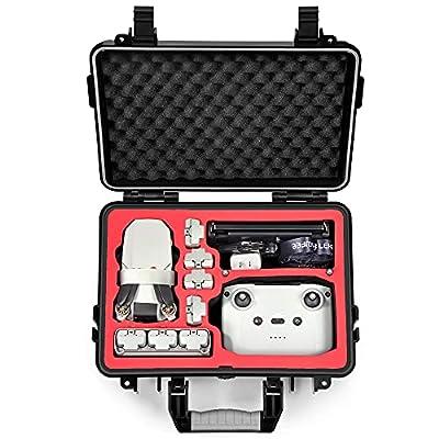 LEKUFEE Waterproof Hard Case Compatible with New DJI Mini 2 Drone and More Mavic Mini 2 Accessories