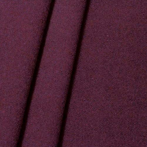 STOFFKONTOR Mantel Wollstoff Klassik Stoff Meterware Lila-Violett