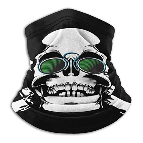 Cráneo, gafas de huesos, unisex, calentador de cuello al aire libre, resistente al viento, máscara facial de forro polar, capucha