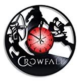Crowfall Computer Game Logo Handmade Vinyl Record Wall Clock, Crowfall Kitchen Decor, Crowfall Gift for him and her