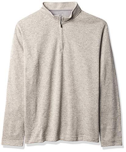 Van Heusen Herren Big and Tall Flex Long Sleeve 1/4 Zip Soft Sweater Fleece Fleecejacke, Silberne Birke, Large Hoch