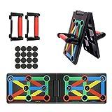 Coriver 9 in 1 Push Up Rack Board, Supporti Push-up Pieghevoli Staffa Sistema di Allenamento Tavolo da Allenamento Allenamento in Palestra Muscle Board Attrezzature per Il Fitness a casa (9 in 1)