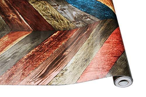 Behang 0.45 * 6m/Roll Vintage Hout 3D ego lijm Behang voor muren Rollen Mural Contact papier Overleven Room Keuken Badkamer Home Decor behang pasta 0.45X6m A