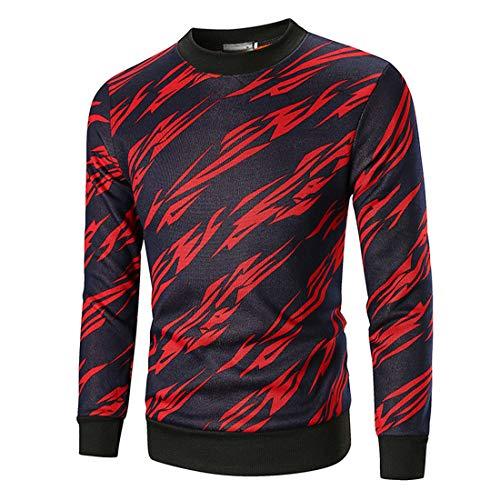 Lfly Sweatshirt Herren, Herren Sweater Pulli Fleece Pullover Langarm Sweatshirt Rundhals Print Streetwear, 2020 Herbst Neuer Pullover, Crew Neck Langarmshirt Sportoberteil L