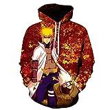 Casual Cosplay Niños Anime Kid Sudadera con capucha 3D Cosplay Disfraz Sudaderas, Blancuzco, XXX-Large