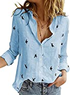 Material: Breathable Fabric, Very Soft cozy fabric made, fine quality guaranteed Features: Long Sleeve, V neck Shirts, Button closure,Loose Fit Tops,enough to elongate a slim figure Unique Design: Womens High Low Hemline Cute Tops Blouses Match: This...