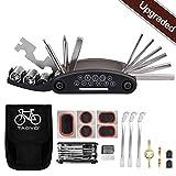 Tagvo Fahrradwerkzeug-Kit, 16 in 1 Fahrrad-Multifunktionswerkzeug mit Patch-Kit und Reifenheber, Fahrrad-Fix-Tool-Kit, Bike Cycling Repair Tools Bundle, Zyklus-Wartungs-Kits mit Beutel