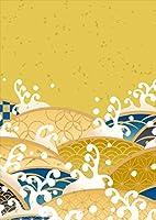 igsticker ポスター ウォールステッカー シール式ステッカー 飾り 257×364㎜ B4 写真 フォト 壁 インテリア おしゃれ 剥がせる wall sticker poster 008174 写真・風景 和風 和柄 波 模様