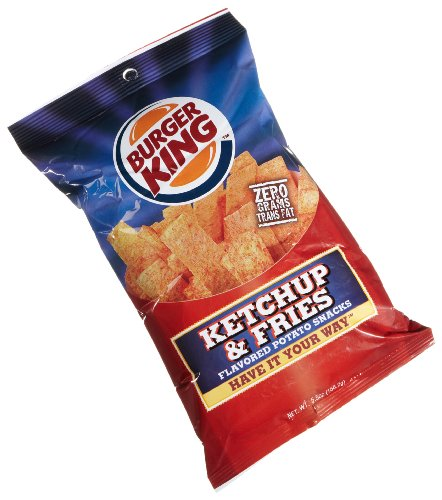 Burger King Ketchup & Fries Potato Snacks, 5.5-Ounce Bags (Pack of 10)