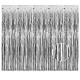 AIBAOBAO 5Pcs cortina metálica de hojalata con flecos, cortina brillante para...
