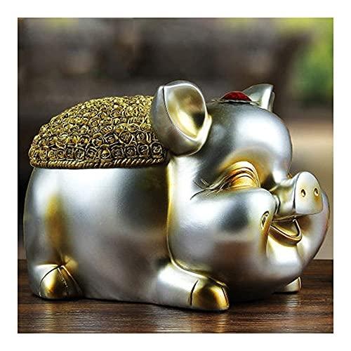 BFFDD Decoraciones for el hogar Europeo Adornos de Elefantes Decoraciones de la Sala de Estar del Cerdo Armario de Vino Mostrar artesanías Regalos de Boda (Color: b) (Color : A)