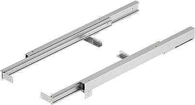 Gedotec Tafel-uittrekgeleiding aluminium kogelgeleiding voor 1 klapinleg   rails met inbouwlengte: 830 mm   tafeluitbreidi...