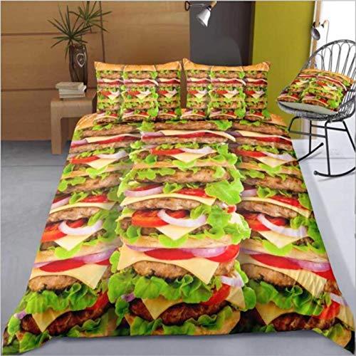Burrito Bedding Set Duvet Cover And Pillowcase Home Textiles Linens Bedclothes Queen Comforter Sets Flour Tortilla,Gray,AU Single
