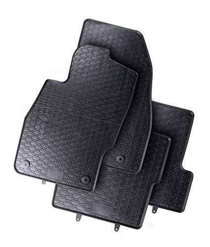 All4You Gummimatten Original Qualität Fußmatten für Opel Corsa D E 100{02e1abb669efb2e1ca47356d830f171b5618426df38adca377305e3dfe51524c} passgenau Schwarz Gummi 4-teilig fahrzeugspezifisch