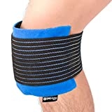 Knee Pain Relief Gel Pack - Hot Cold Ice Packs for Injuries, Reusable Heat Pads (3in1 Compress Wrap fits Ankle, Foot, Elbow) First aid for Sports, Reduce Swelling, Replacement Surgery - GelpacksDirect
