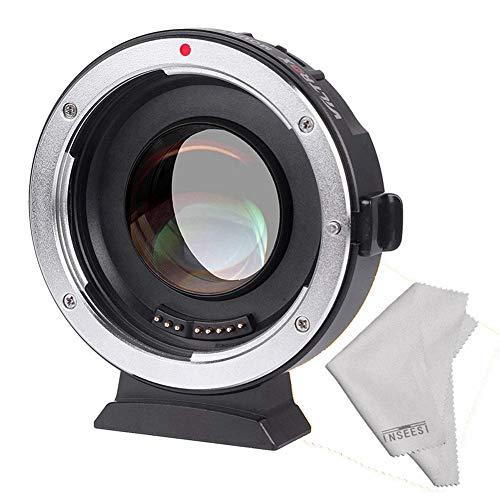 Viltrox EF-M2 Mise au Point Automatique Adapter 0,71 X de Monture d'objectif pour Objectif Canon EOS EF vers Micro Four Thirds (MTF M4/3), Camera, avec Port USB Mise à Jour