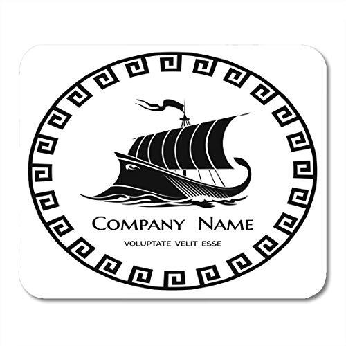Podkładki pod mysz łódź czarny statek starożytna grecka galley dla firmy mocna podkładka pod mysz do notebooków, komputerów stacjonarnych maty materiały biurowe