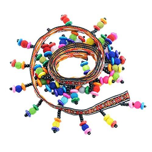 SGerste Boho stil Jacquard band färgad pärlor droppe frans tofs spets utsmyckning klädsel gardin stol väska kudde bohemisk klänning kostym sömnad kant dekorationer