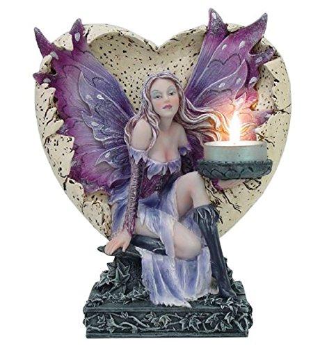 Figura Hada de Islandia Nel Corazón con Thea Light (vela) cm 20resina multicolor
