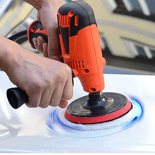 Hochdruckreiniger 800W 125MM Elektro-Auto-Polierer Puffer Sander Waxing Kit Werkzeuge Einstellbare Geschwindigkeit (Farbe : Rot, Größe : Free)