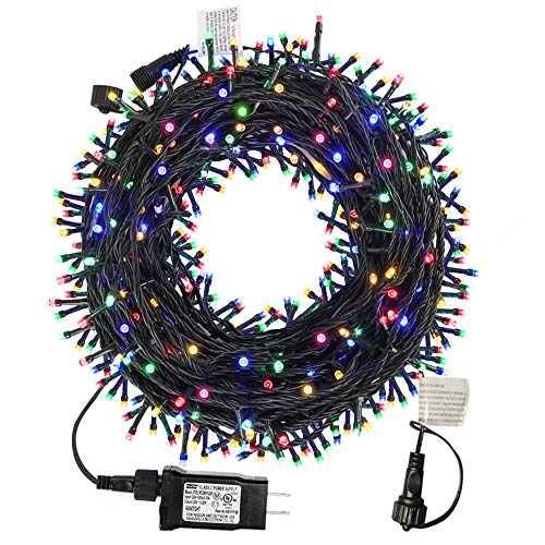 MZD8391 105FT 300LEDs Christmas Lights Outdoor Indoor String Lights 8 Modes Memory Function for Christmas Tree Party...