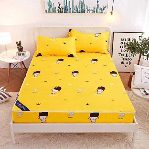 haiba Spannbettlaken Bettlaken Spannbetttuch in vielen Farben,180x200cm+20cm