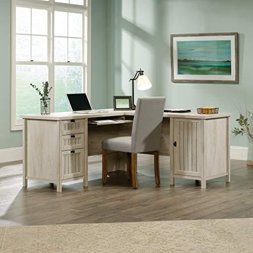 Sauder Costa L-Shaped Desk, L: 65.12' x W: 65.12' x H: 30.0', Chalked Chestnut