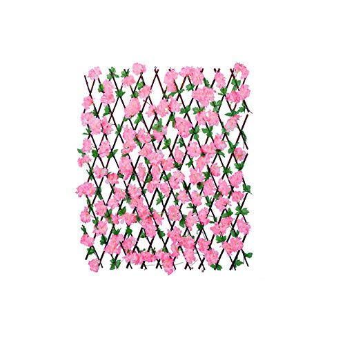 58bh Artificial Flower Leaf Trellis Greenery Panel Greenhouse Home Privacy Screen Garden Screening Fence Substitute DIY Flexible Fencing Flower